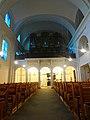 Graz. Heilandskirche. Innenraum, Blick zu Empore und Orgel.jpg