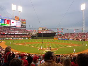 Great American Ball Park - View from behind home plate.