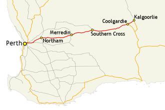 Australia Map Kalgoorlie.Great Eastern Highway Travel Guide At Wikivoyage