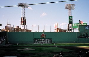 2001 Boston Red Sox season - The Red Sox hosting a home game against the season's eventual NL East Division Champions Atlanta Braves in July 2001.