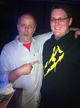 Greg Fleet - Fleet with a fan at a Melbourne club