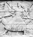Groblje oslobodilaca Beograda reljef, detalj zena borac.jpg