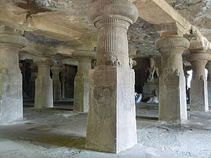 Elephanta Caves - Main entrance, Cave 1