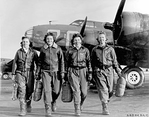 "Pistol Packin' Mama - Women Airforce Service Pilots named in 1944 their B-17 Flying Fortress, ""Pistol Packin' Mama"""