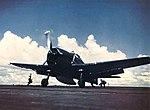 Grumman F6F-5 Hellcat of VF-81 aboard USS Wasp (CV-18), circa in December 1944.jpg