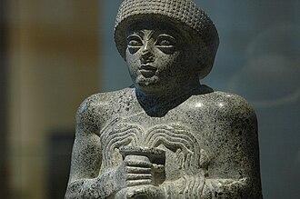 Gudea cylinders - Statue of Gudea bearing water