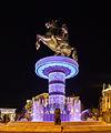 Guerrero a caballo, Skopie, Macedonia, 2014-04-17, DD 110.JPG
