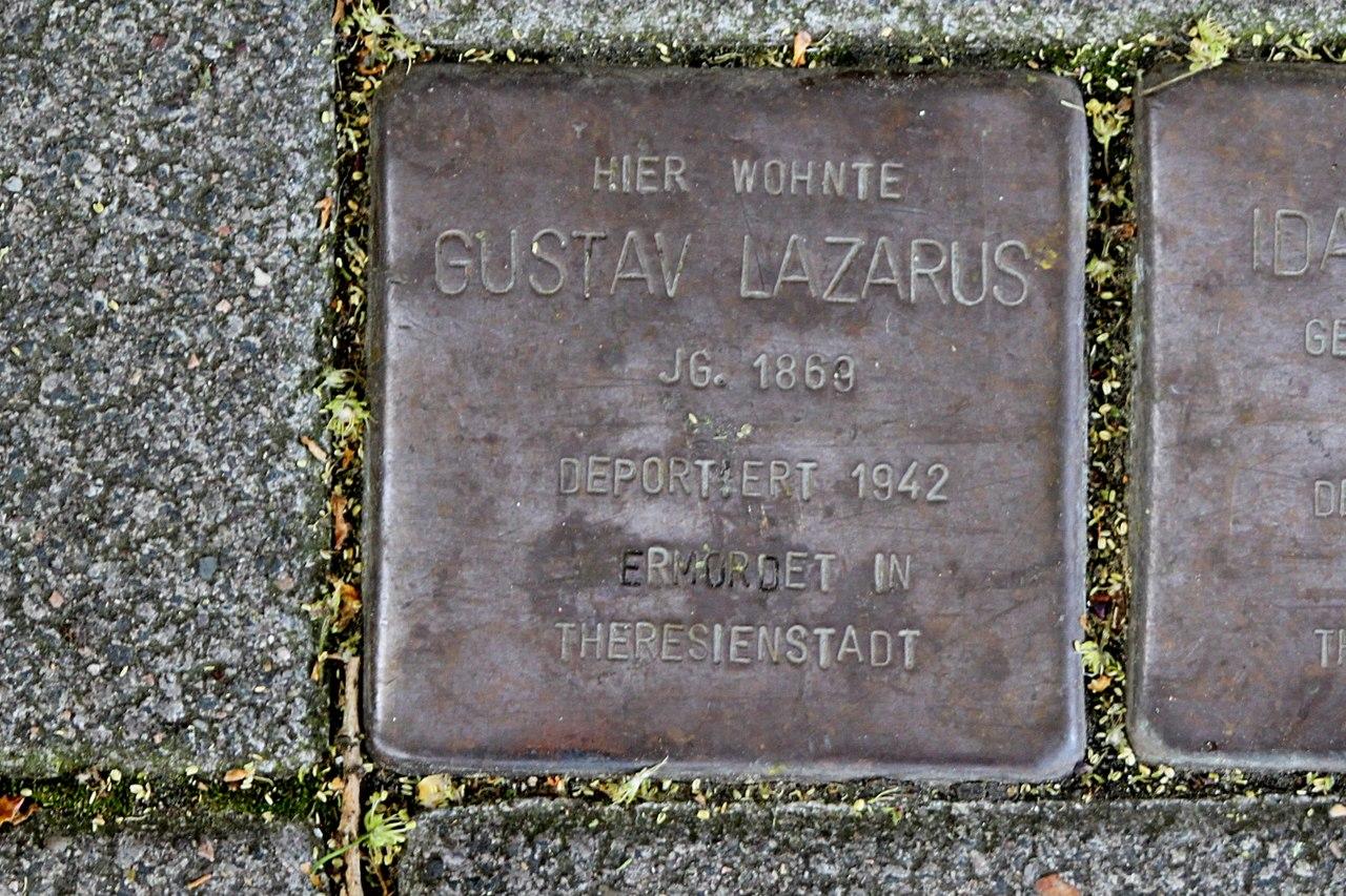Stolperstein für Gustav Lazarus