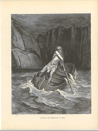 Acheron - Following Greek mythology, Charon ferries souls across the Acheron to Hell. Those who were neutral in life sit on the banks
