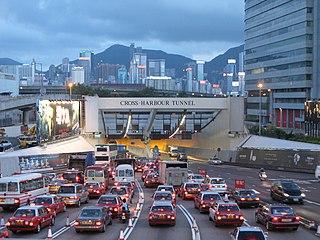 在三條過海隧道當中,紅隧位置最為優越,兩端出口都十分接近核心商業區,故收費理論上應該要收得最高。 (圖片:WiNG@Wikimedia)