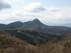 明神ヶ岳から見た金時山。イノシシの鼻のように突き出た山容から、かつては猪鼻嶽と呼ばれた。