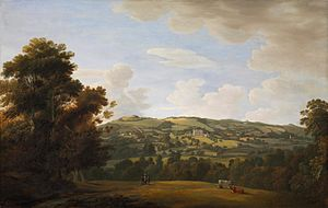 Haldon House - Haldon House, east front, painting by Francis Towne, commissioned in 1780 by Sir Robert Palk, 1st Baronet
