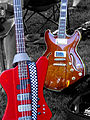 Hamer Thunderbird 8 string bass & Semi acoustic guitar.jpg