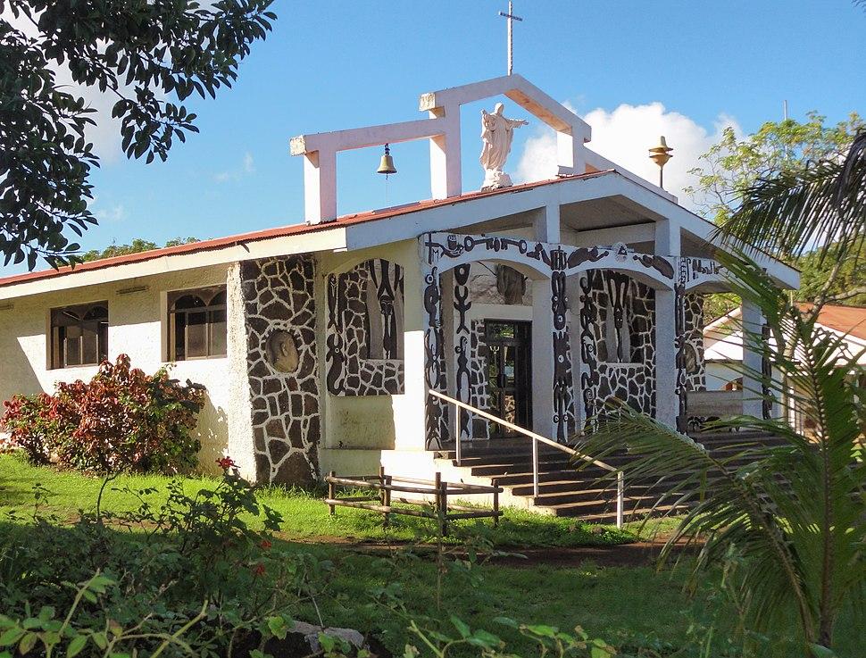 Hanga Roa Catholic Church exterior 2