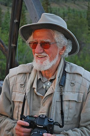 Hans Blohm - Photo taken on the footbridge across the Pelly River, near Ross River, Yukon, along the Canol Road. August 2009