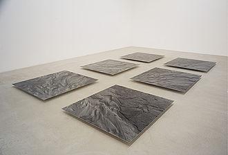 Hans Danuser - Hans Danuser, Erosion II – a floor installation, 2000–2006, 6 parts (II 1–II 6), photographs on baryta paper, each 150 x 140 cm, installation in the Fotomuseum Winterthur.