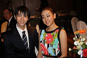 2013–14 Grand Prix of Figure Skating Final - Hanyu and Asada at the 2013 Grand Prix Final.