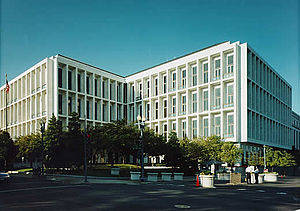 Hart Senate Office Building - Looking southwest at the Hart Senate Office Building