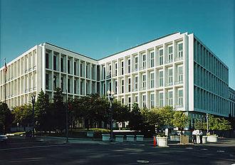 Hart Senate Office Building - Looking southwest at the Hart Senate Office Building