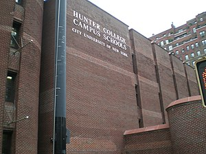 Hunter College Elementary School - Hunter College Elementary School and Hunter College High School share a campus, shown above.
