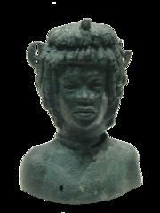 Vase à parfum : buste d'adolescent