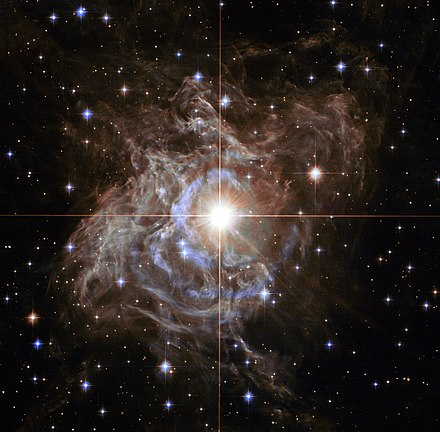 RS Puppis, a Cepheid variable star. Christy explained why they pulsate. Heic1323a -1243686232.jpg