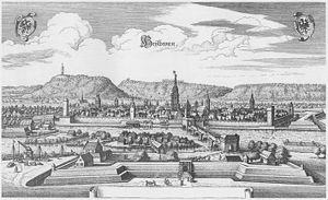 Heilbronn - Heilbronn in 1643. Engraving by Matthäus Merian