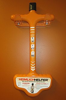 The Heimlich Helper , a device used to self-administer the Heimlich.