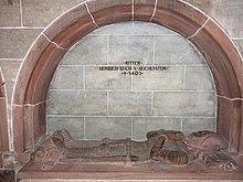 Heinrich Reich von Reichenstein (died 1403).  Late Gothic figure grave in Basel Minster