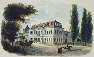 Princess Karoline Amalie of Hesse-Kassel - The Gotha Winter Palace, by Heinrich Justus Schneider, 1840.