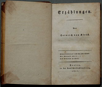 Michael Kohlhaas - Image: Heinrich von Kleist Erzählungen 1810 1811