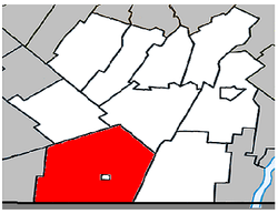 Location within Les Jardins-de-Napierville RCM.