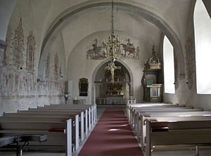 Hemse Church - View of the interior towards the choir