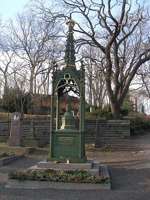 Henrik Wergeland - Henrik Wergeland's grave - at Our Saviour's Cemetery, Oslo