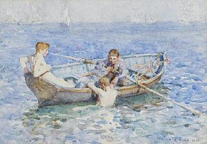 """August Blue - Image: Henry Scott Tuke Study for """"August Blue"""", 1911"""