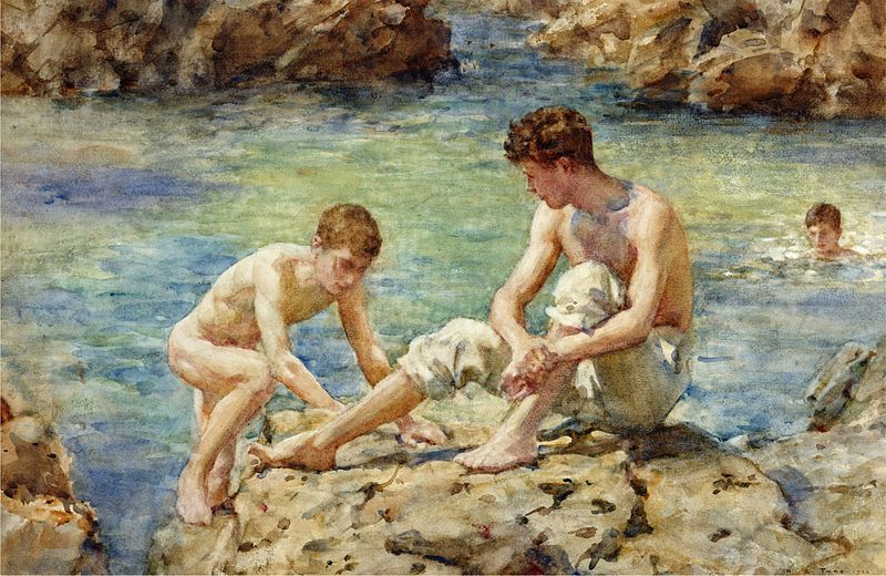 File:Henry Scott Tuke - The Bathers, 1922.jpg