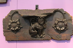 Whitefriars, Coventry - A misericord from Whitefriars, on display at Herbert Art Gallery and Museum.