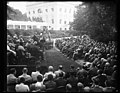 Herbert Hoover at podium addressing group outside White House, Washington, D.C. LCCN2016889930.jpg