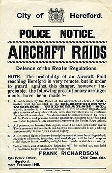 Strategic bombing during World War I - Wikipedia