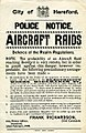 Hereford Police - WWI poster - Police Notice - Aircraft Raids.jpg