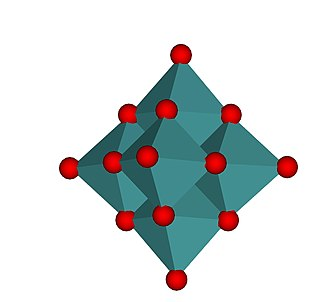 Molybdate - Image: Hexamolybdate ion polyhedral representation