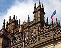 Highclere Towers, Balustrade and Flag (geograph 4165316).jpg