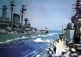 Highline transfer between USS Salem (CA-139) and USS Des Moines (CA-134), in 1958.jpg