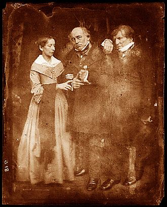 William Etty - Betsy (left), Charles (centre) and William (right), October 1844