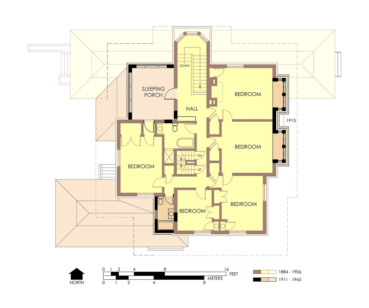 File Hills Decaro House Second Floor Plan Pre