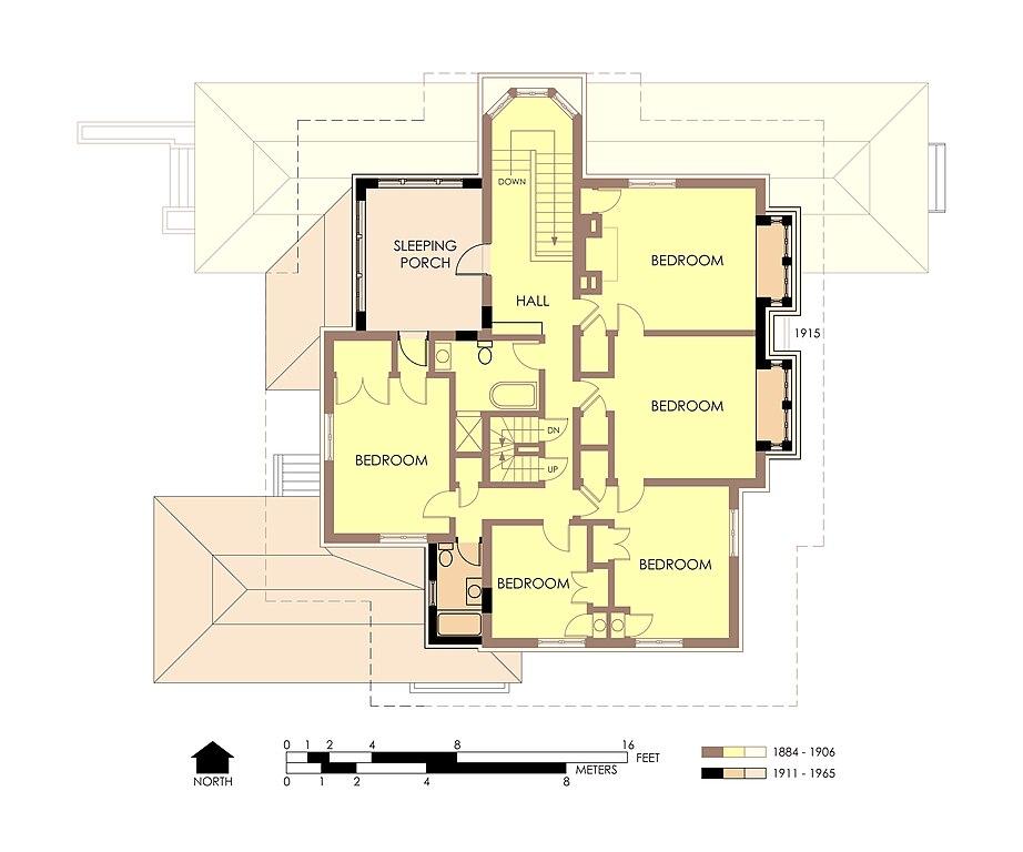 File Hills Decaro House Second Floor Plan Pre Fire Jpg Wikimedia Commons