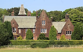 Hinderton Hall grade II listed English country house in the United kingdom
