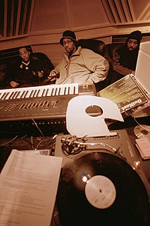 Hip hop production creation of hip hop music in a recording studio