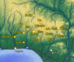 Akure Kingdom - Historical Yoruba Cities. Akure towards southeast