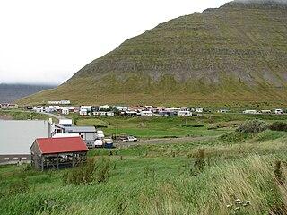 Hnífsdalur Village in Northwest Constituency, Iceland